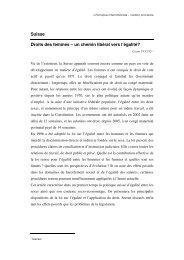 Suisse Droits des femmes – un chemin libéral vers l'égalité?