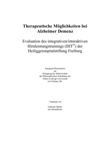 alzheimer demenz dissertation
