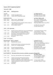 Suomen XIII Transplantaatiopäivät