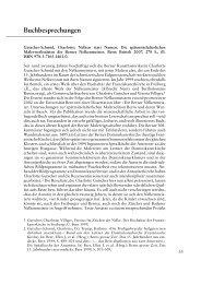 Buchbesprechungen - Berner Zeitschrift für Geschichte