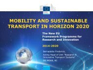 MOBILITY AND SUSTAINABLE TRANSPORT IN HORIZON 2020