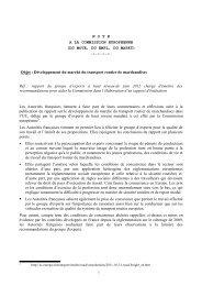 la position française - Ile-de-France Europe