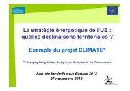 consulter la présentation - Ile-de-France Europe