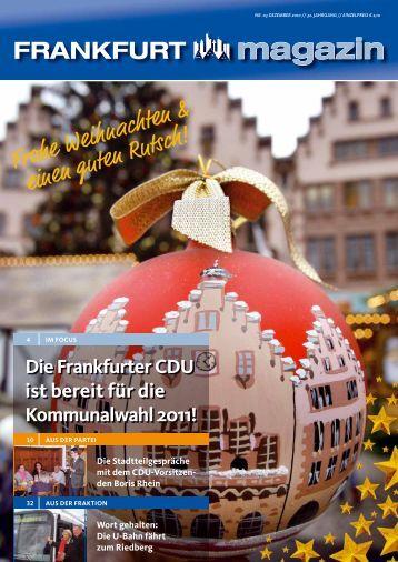 FFMagazin 03 2010 interaktiv - CDU-Kreisverband Frankfurt am Main