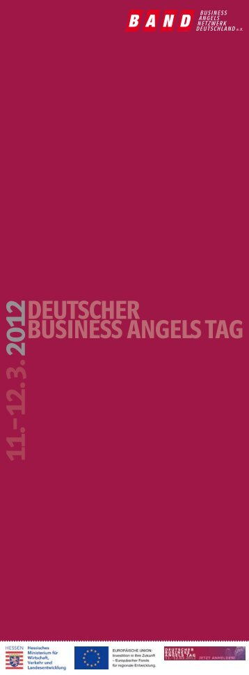 deutscher business angels tag o - Business Angels Netzwerk ...