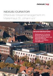 NEXUS / CURATOR Effektives Wissensmanagement im ... - Nexus AG