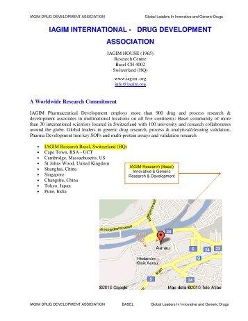 IAGIM INTERNATIONAL - DRUG DEVELOPMENT ASSOCIATION