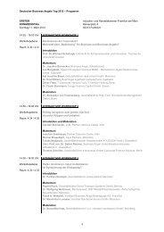 Programm 2012 (PDF) - Business Angels Netzwerk Deutschland eV
