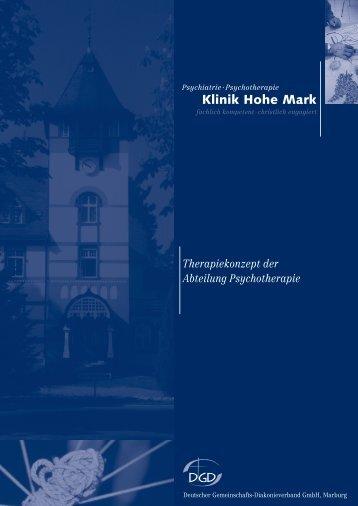 Therapiekonzept der Abteilung Psychotherapie - Klinik Hohe Mark