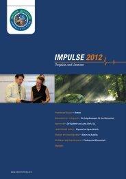 Impulse 2012 - Gregor Louisoder Umweltstiftung