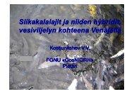 Siikakalalajit ja niiden hybridit vesiviljelyn kohteena Venäjällä
