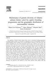 Maintenance of genetic diversity of Atlantic salmon (Salmo salar) by ...