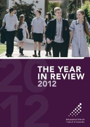 the year in review 2012 - Independent Schools Council of Australia