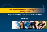 The Assessment and Teaching of 21 Century Skills