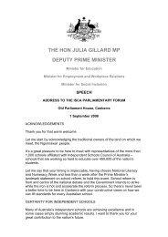 THE HON JULIA GILLARD MP DEPUTY PRIME MINISTER