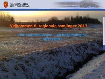 Velkommen til regionale samlinger 2013