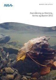Overvåkning av Glomma Vorma og Øyeren 2012