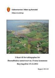 Hustadbukta - høyringsutkast fvp 2012 - Fylkesmannen.no