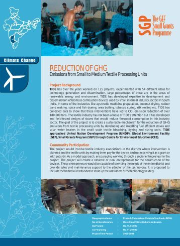 REDUCTION OF GHG