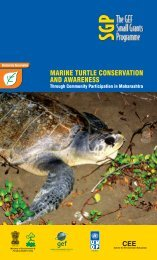 MARINE TURTLE CONSERVATION AND AWARENESS