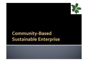 Community based sustainable Development - Mr ... - SGP India