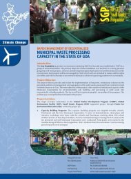 MUNICIPAL WASTE PROCESSING CAPACITY IN THE STATE OF GOA