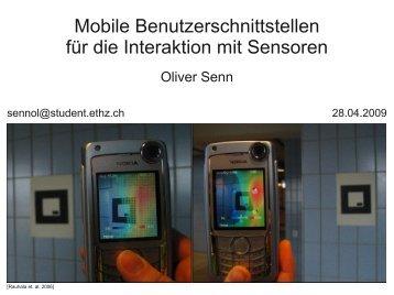 Mobile Benutzerschnittstellen für die Interaktion mit Sensoren