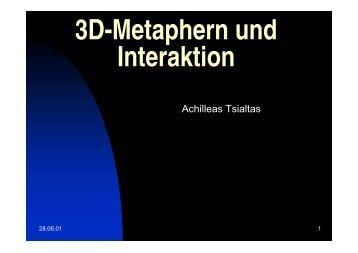 3D-Metaphern und Interaktion