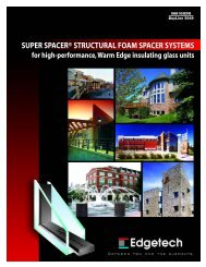 SUPER SPACER® STRUCTURAL FOAM SPACER SYSTEMS