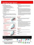 SUPER SPACER® STRUCTURAL FOAM SPACER SYSTEMS - Page 4