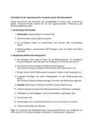 Checkliste für die organisatorische Vorbereitung ... - Betriebsrat.com