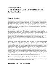 THE HIDDEN LIFE OF OTTO FRANK - Ingram Library Services