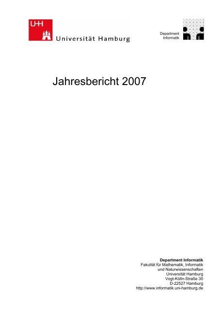 Jahresbericht 2007 - Fachbereich Informatik - Universität ...