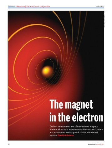 in the electron