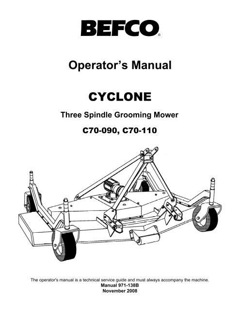 Operator's Manual CYCLONE