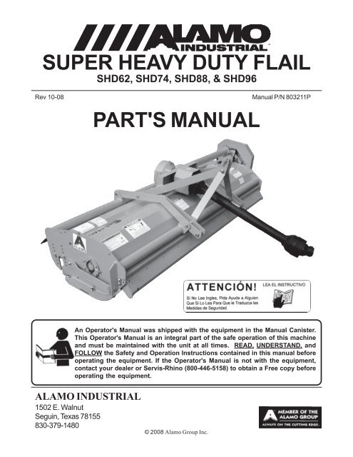 SUPER HEAVY DUTY FLAIL PART'S MANUAL