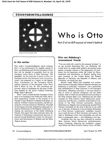 Who is Otto von Habsburg? - Executive Intelligence Review
