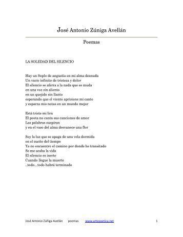 José Antonio Zúniga Avellán - Rostros y Versos