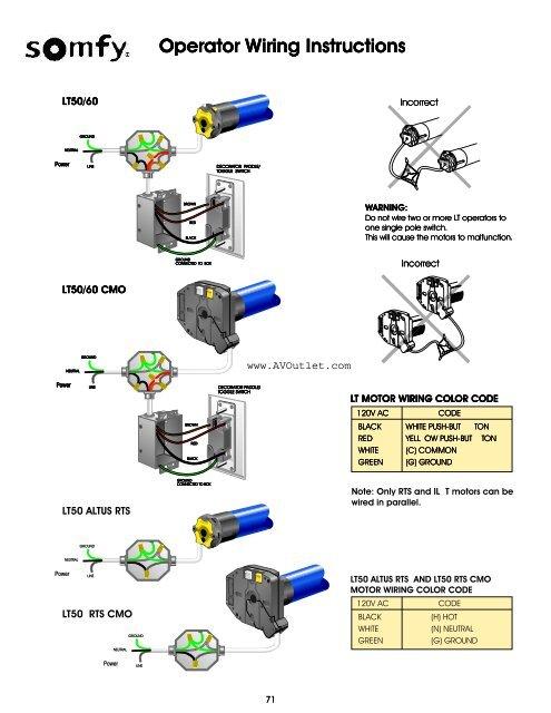 somfy motors wiring diagram - Wiring Diagram