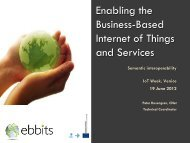 Enabling the Business-Based Internet of Things and Services