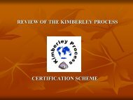 REVIEW OF THE KIMBERLEY PROCESS CERTIFICATION SCHEME
