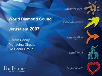 Gareth Penny, De Beers.pdf - World Diamond Council