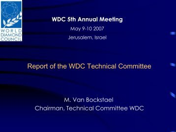 Report of the WDC Technical Committee