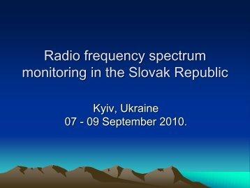 monitoring in the Slovak Republic
