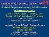 Shaheedi Gurpurab Sri Guru Teg Bahadur Sahib Ji Shaheedi ...