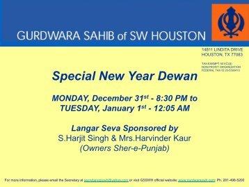 Special New Year Dewan