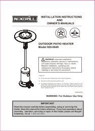 Read this manual carefully before assembling, using or servicing ...