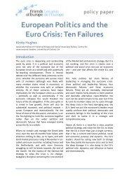 European Politics and the Euro Crisis Ten Failures