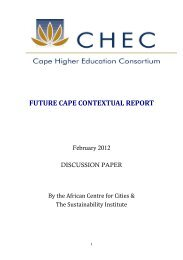 FUTURE CAPE CONTEXTUAL REPORT