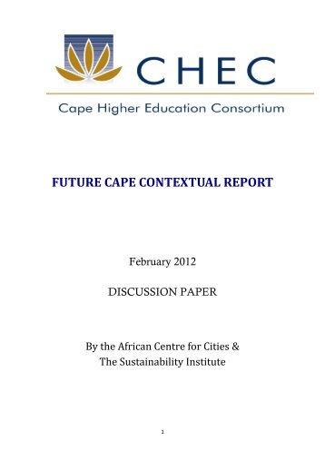 FUTURE CAPE CONTEXTUAL REPORT